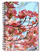 Dogwood Tree Landscape Pink Dogwood Flowers Art Spiral Notebook