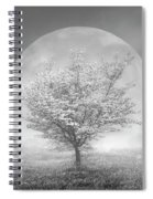 Dogwoods In The Moon Black And White Spiral Notebook