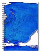Dolphin World Map Spiral Notebook