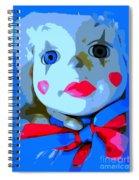 Doll In Blue Spiral Notebook
