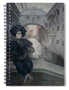 Doll In Venice Spiral Notebook
