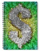 Dollar Sign Pop Art Spiral Notebook
