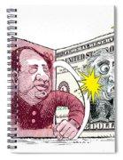 Dollar Vs Yen Spiral Notebook