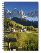 Dolomites View Spiral Notebook