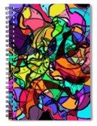 Dolphin Kaleidoscope Spiral Notebook