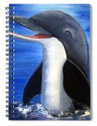 Dolphin Laughing Spiral Notebook
