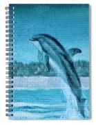 Dolphin Mural Spiral Notebook