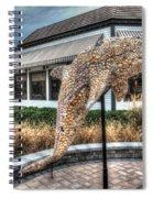 Dolphin Shell Art Sculpture Spiral Notebook