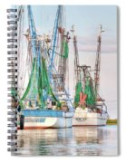 Dolphin Tail - Docked Shrimp Boats Spiral Notebook