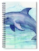 Dolphin Watercolor Spiral Notebook