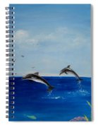 Dolphins Playing Spiral Notebook