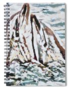 Dolphins Twitterpated Spiral Notebook