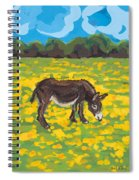 Donkey And Buttercup Field Spiral Notebook