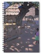 Donkeys Lamu Kenya Spiral Notebook