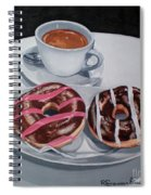 Donuts And Coffee- Donas Y Cafe Spiral Notebook