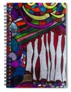 Doodle Page 6 - Bones And Curtains - Ink Abstract Spiral Notebook