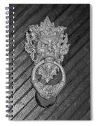 Door Knocker At Hammond Castle Spiral Notebook