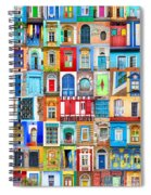 Doors And Windows Of The World - Vertical Spiral Notebook