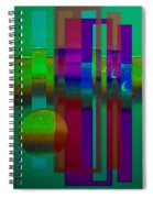 Doors In Green Spiral Notebook