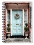 Doors Of Boston Blue Spiral Notebook