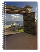 Doors Open To View Of San Juan Spiral Notebook