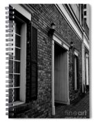 Doorway Black And White Spiral Notebook