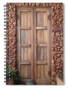 Doorway Steps Back In Time Spiral Notebook