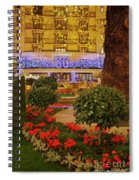 Dorchester Hotel London At Christmas Spiral Notebook