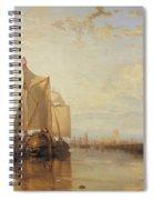 Dort Or Dordrecht The Dort Packet Boat From Rotterdam Becalmed Spiral Notebook