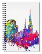 Dortmund Skyline-colorful Spiral Notebook