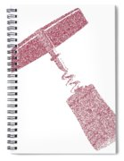 Doted Corkscrew With Cork Spiral Notebook