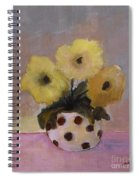 Dotted Vase With Yellow Flowers Spiral Notebook