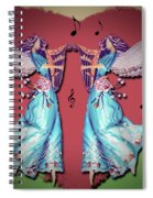 Double Angel Spiral Notebook