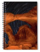 Double Arch Star Trails Spiral Notebook