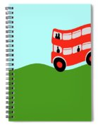 Double Decker Bus Spiral Notebook