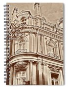 Double Decker View Quote Spiral Notebook
