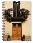 Double Doors And Balcony Spiral Notebook