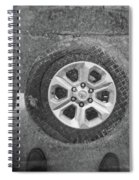 Double Exposure Manhole Cover Tire Holga Photography Spiral Notebook