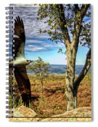 Double Exposure Osprey And High Point Nj Spiral Notebook