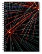 Double Fireworks Spiral Notebook