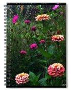 Double Framed Floral Spiral Notebook