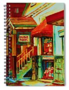 Double Hook Book Nook Spiral Notebook