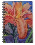 Double Lily Spiral Notebook