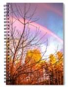 Double Rainbow-hdr Spiral Notebook