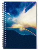 Double Rainbow Over Provo, United States Spiral Notebook