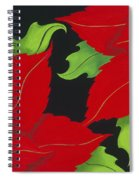 Double Red Poinsettias Spiral Notebook