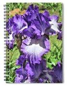 Double Ruffled Purple Iris Spiral Notebook