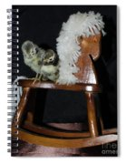 Double Seat Rocking Horse Spiral Notebook