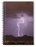 Double Trouble Fine Art Lightning Photography Spiral Notebook