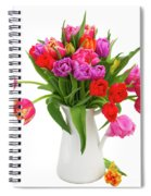 Double Tulips Bouquet Spiral Notebook